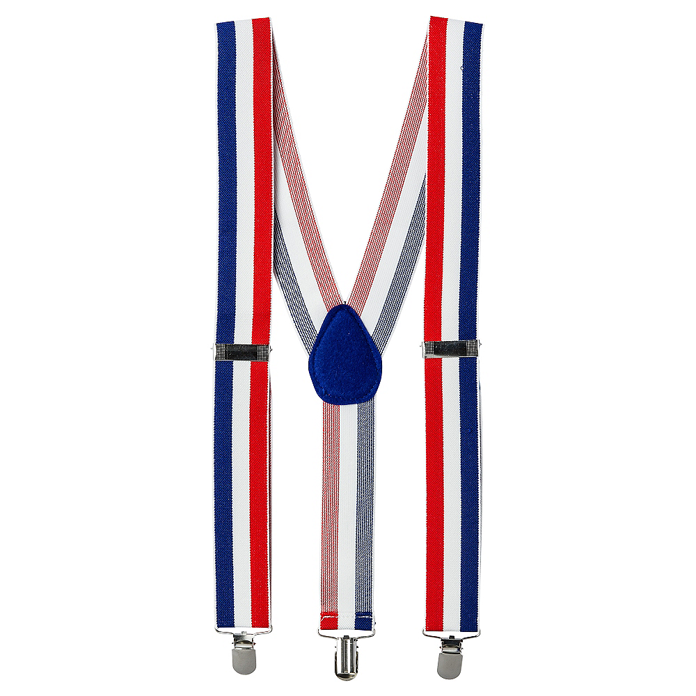 Patriotic Striped Suspenders Image #1