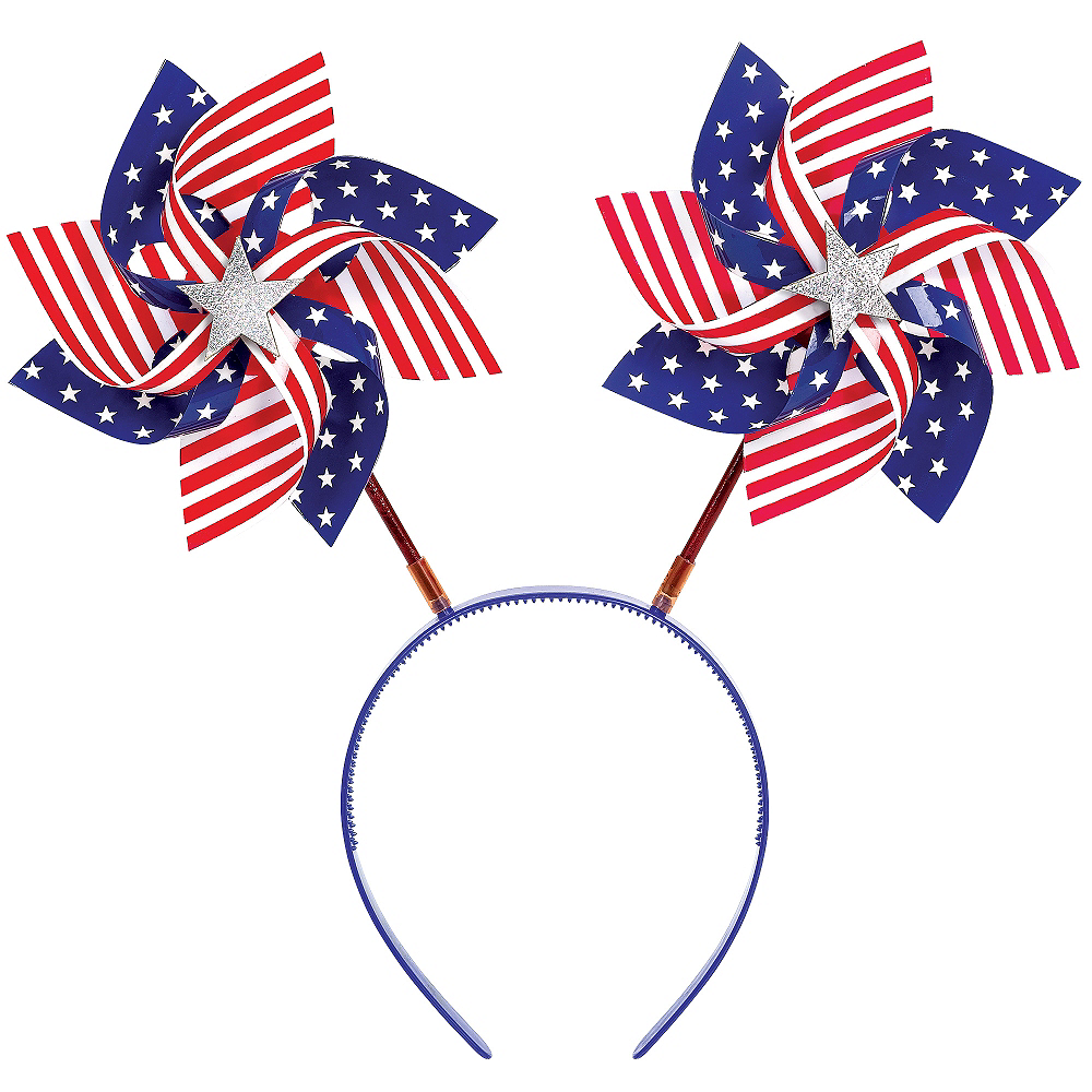 Patriotic American Flag Pinwheel Head Bopper Image #1