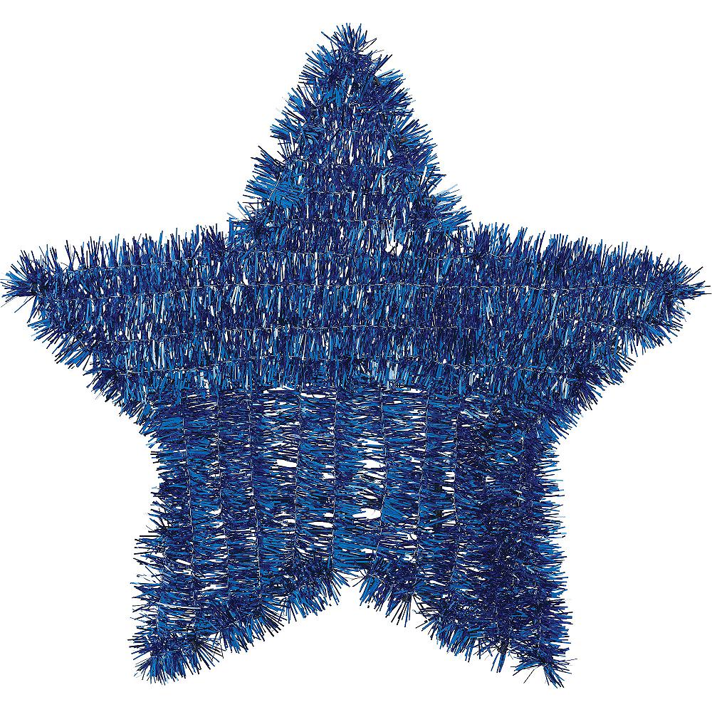 Tinsel Blue Star Sign Image #1