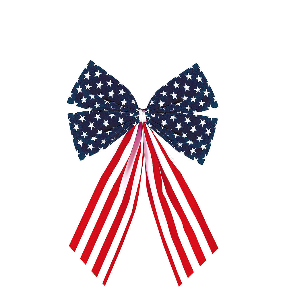 Small Patriotic American Flag Bow Image #1