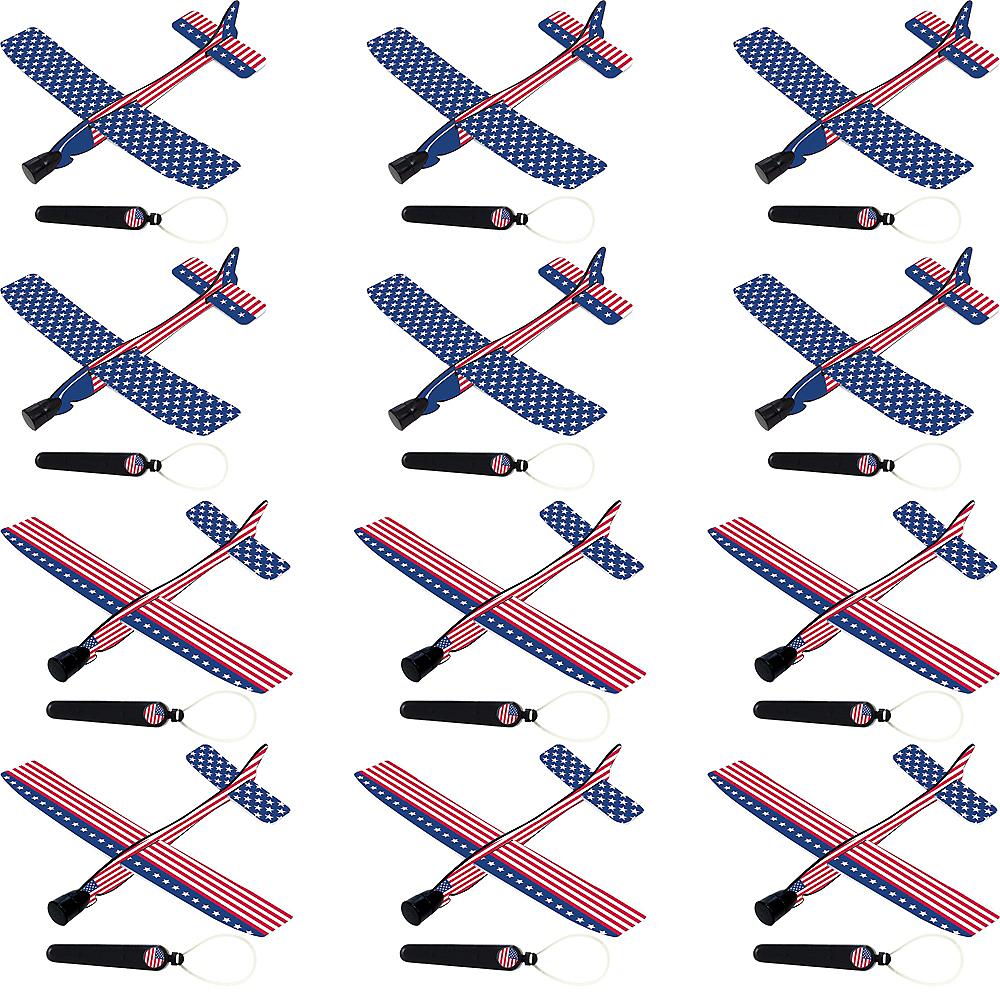 Patriotic American Flag Gliders 12ct Image #1