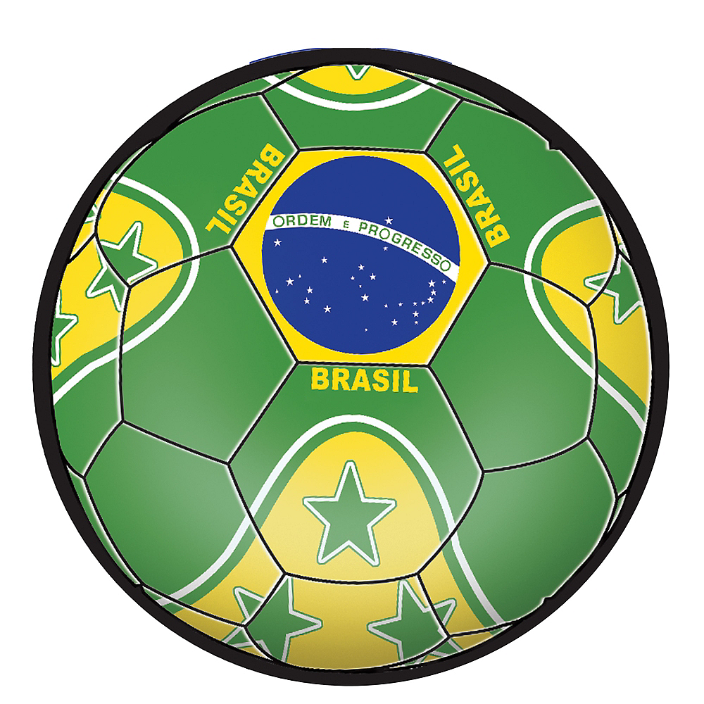 Nav Item for Brazil Soccer Ball Sticker Image #1