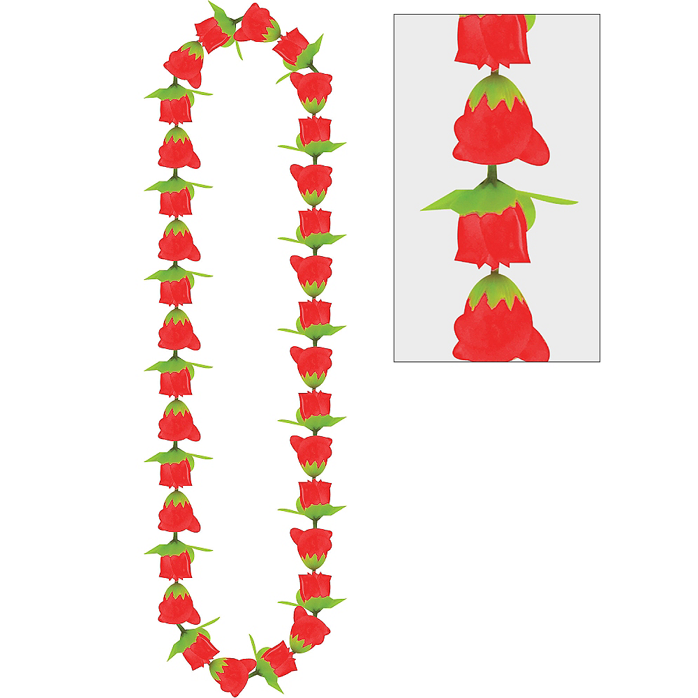 Nav Item for Red Rose Lei Image #1