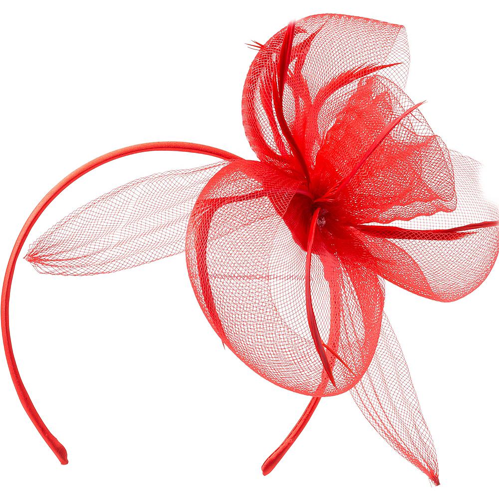 Nav Item for Red Flower Fascinator Headband Image  1 ... 8b6a5279c3b