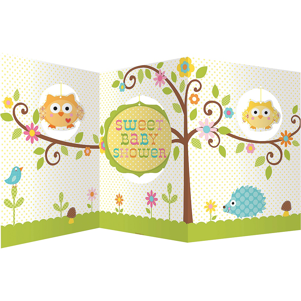 Owl Baby Shower Centerpiece 27in x 12in | Party City