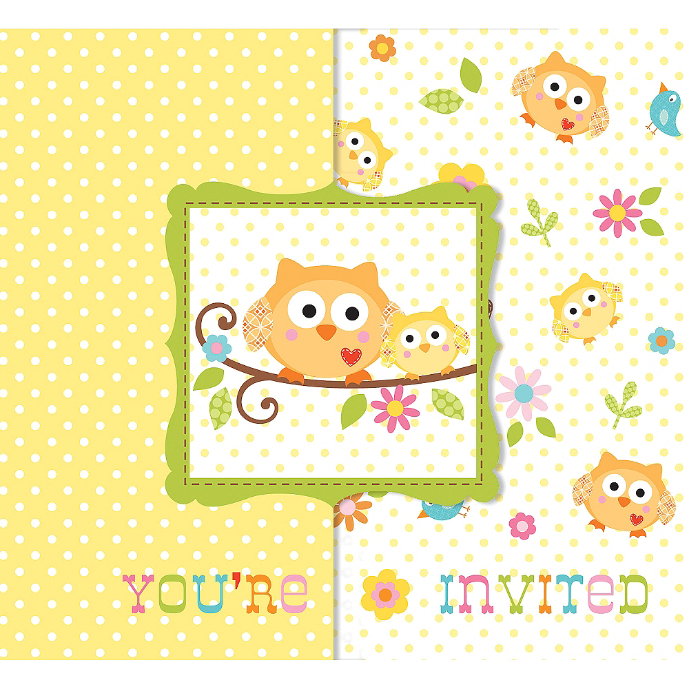 Owl baby shower invitations 8ct party city owl baby shower invitations 8ct image 1 filmwisefo