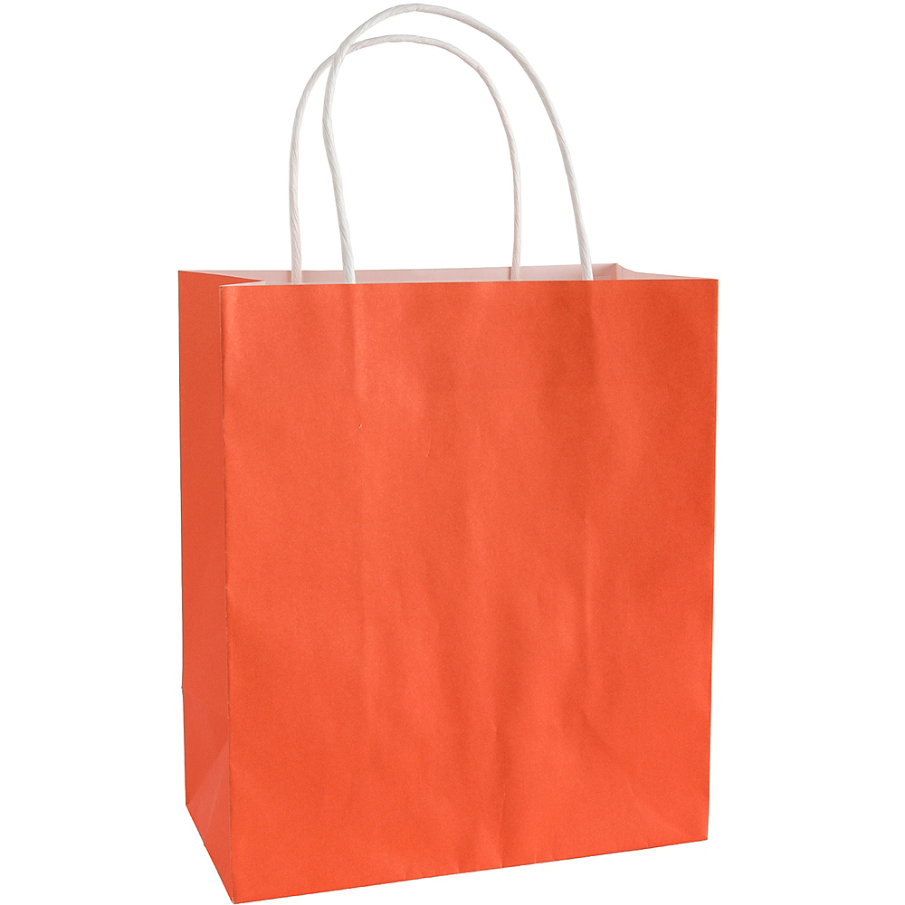 Medium Orange Paper Gift Bag Image #1