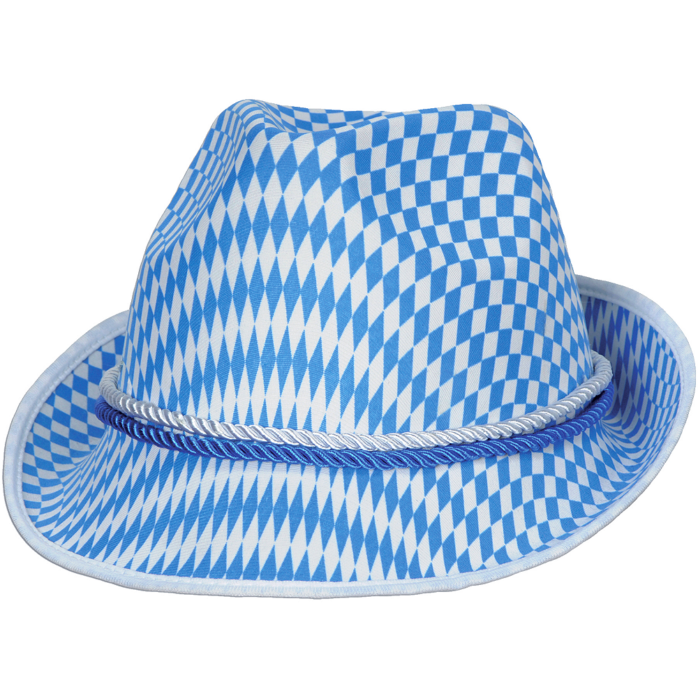 Nav Item for Bavarian Check Oktoberfest Alpine Hat Image #1