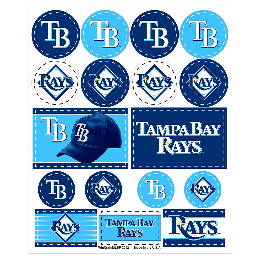 Tampa Bay Rays Stickers 1 Sheet Image #1