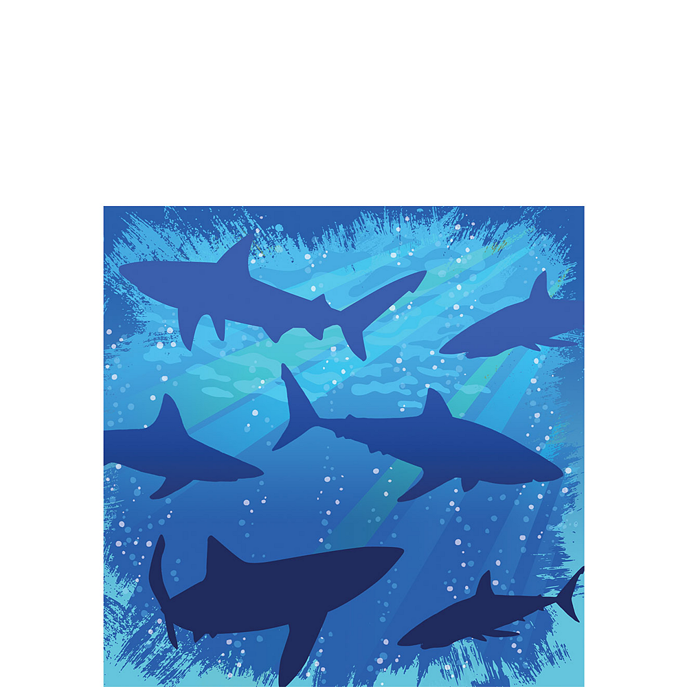 Shark Beverage Napkins 16ct Image #1