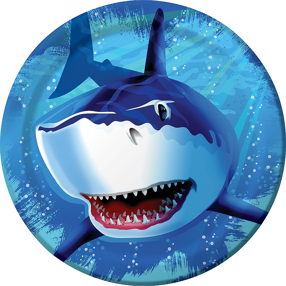 Shark Lunch Plates 8ct Image #1