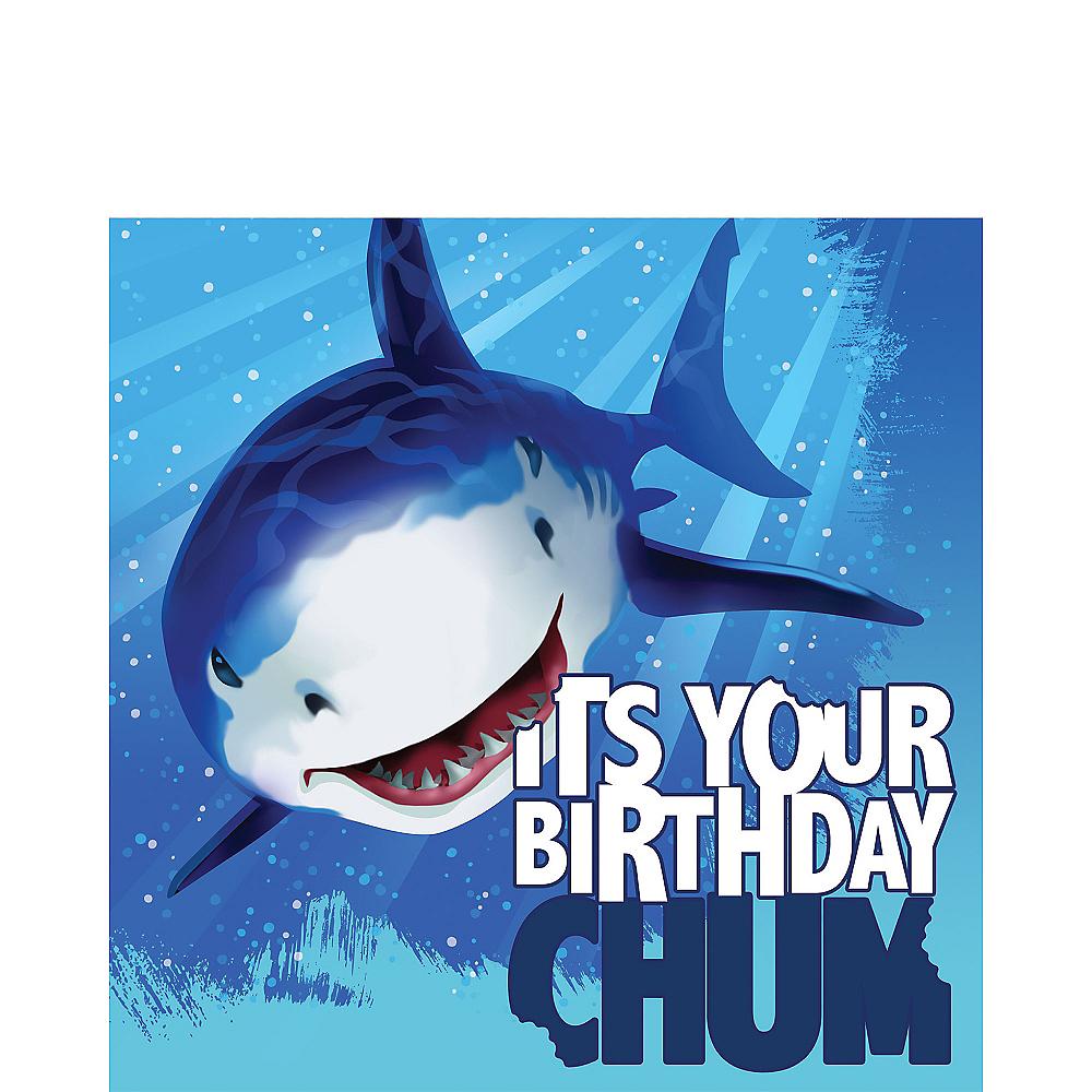 Shark Birthday Lunch Napkins 16ct Image #1