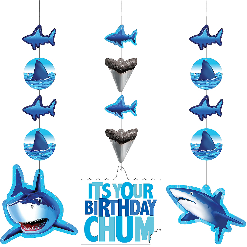 Shark String Decorations 3ct Image #1