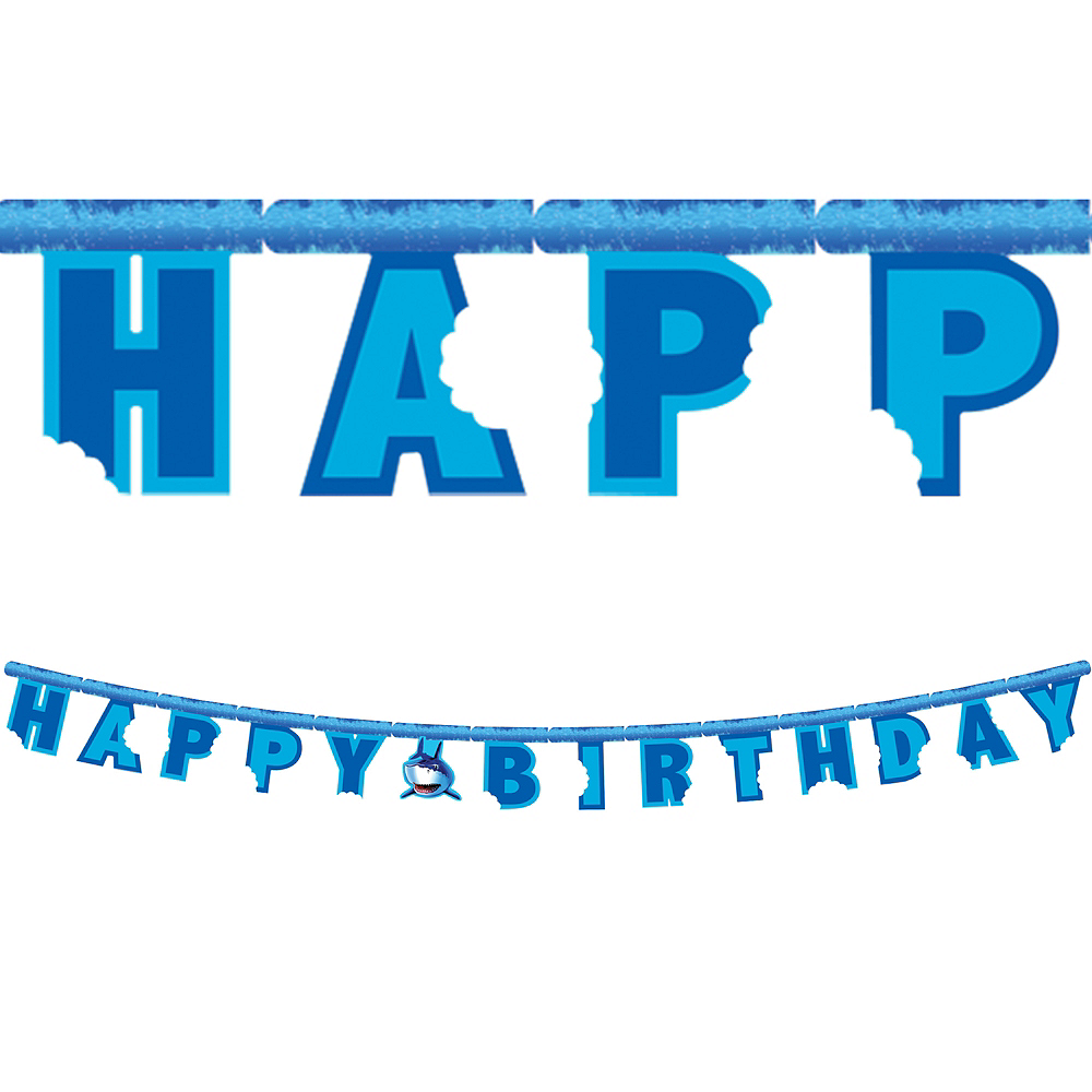 Shark Birthday Banner Image #1