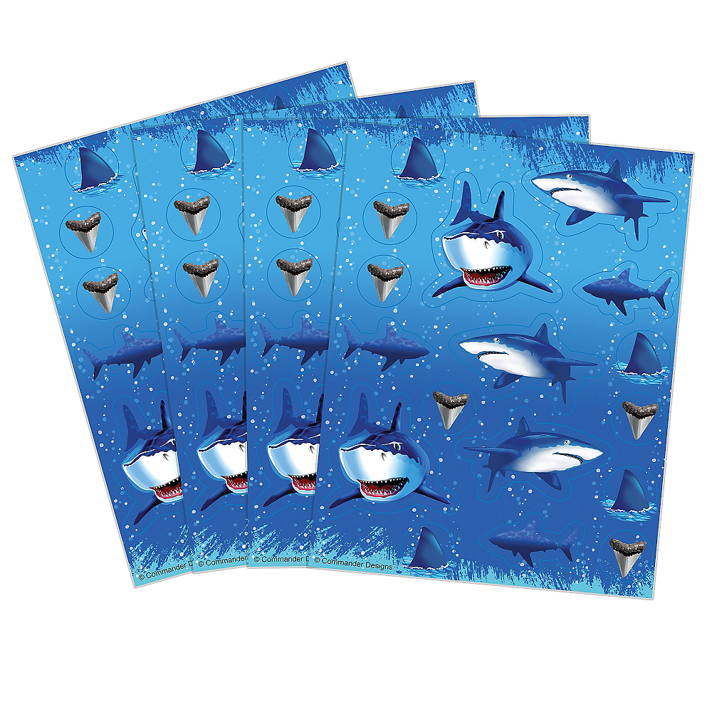Shark Stickers 4 Sheets Image #1