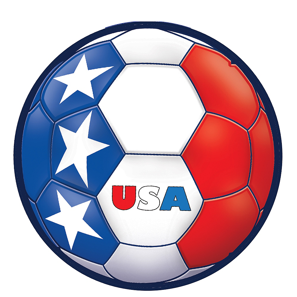 USA Soccer Ball Sticker Image #1