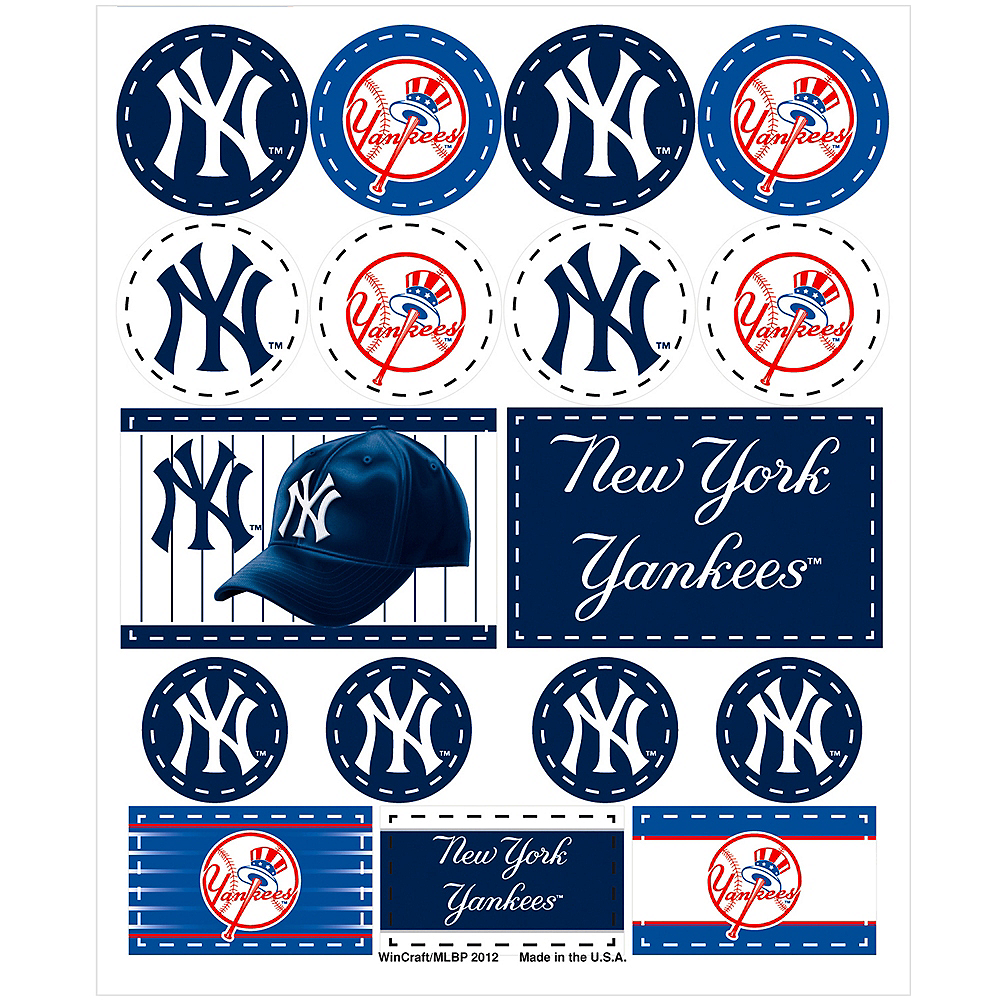New York Yankees Stickers 1 Sheet | Party City