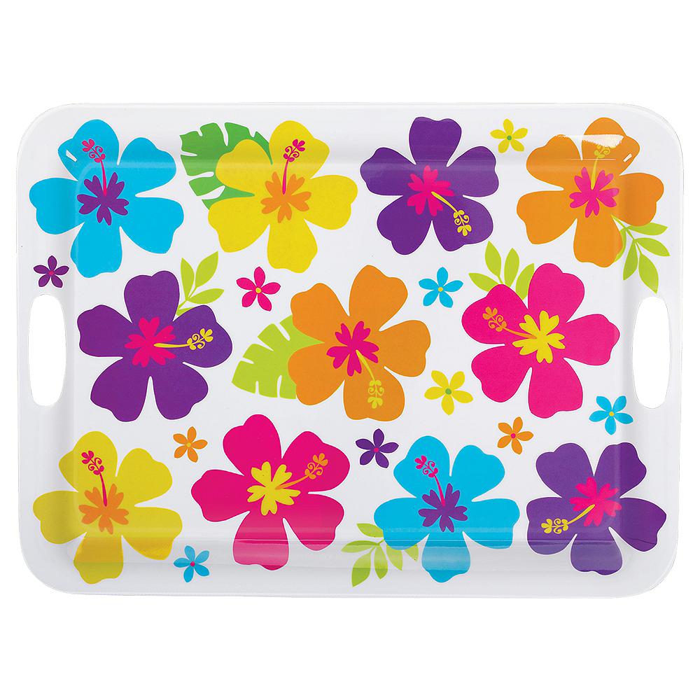 Nav Item for White Hibiscus Tray Image #1