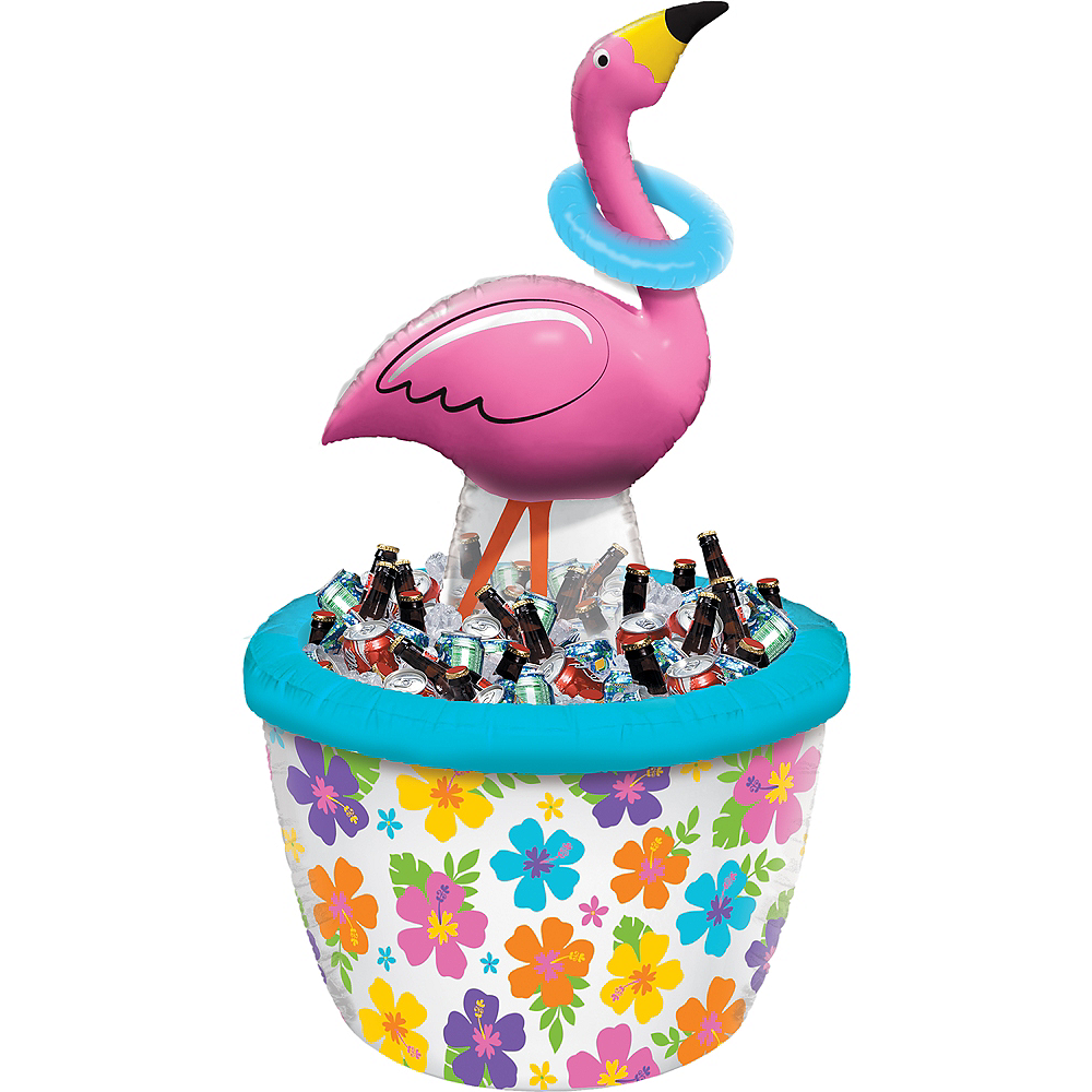 Inflatable Ring Toss Flamingo Cooler Image #1