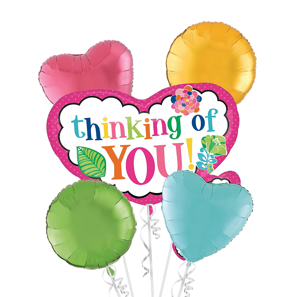 Thinking of You Balloon Bouquet 5pc Image #1