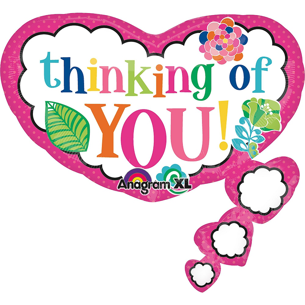 Thinking of You Balloon Bouquet 5pc Image #6
