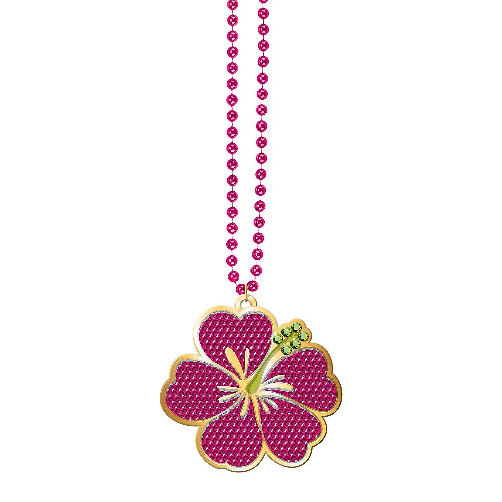 Hibiscus pendant necklace 36in party city hibiscus bead necklace image 1 izmirmasajfo