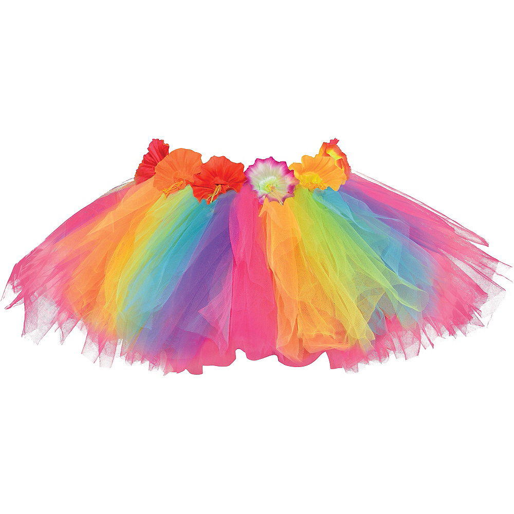 Child Hibiscus Rainbow Hula Tutu Image #2
