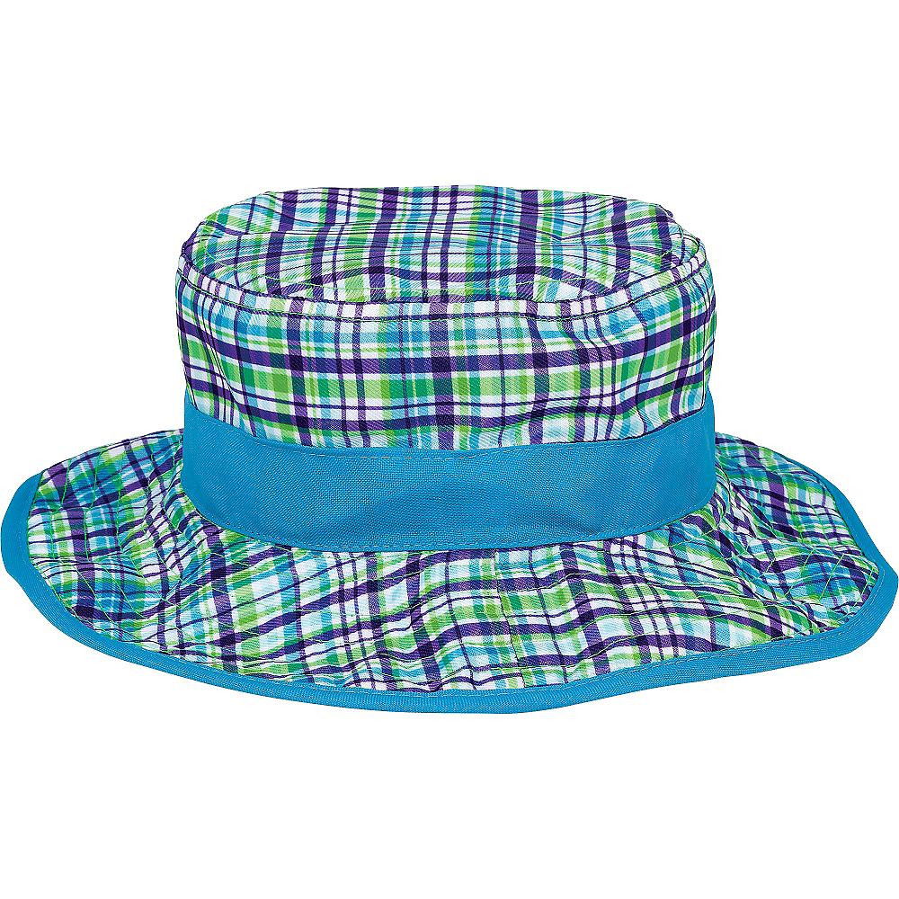 Child Blue Plaid Bucket Hat Image #1