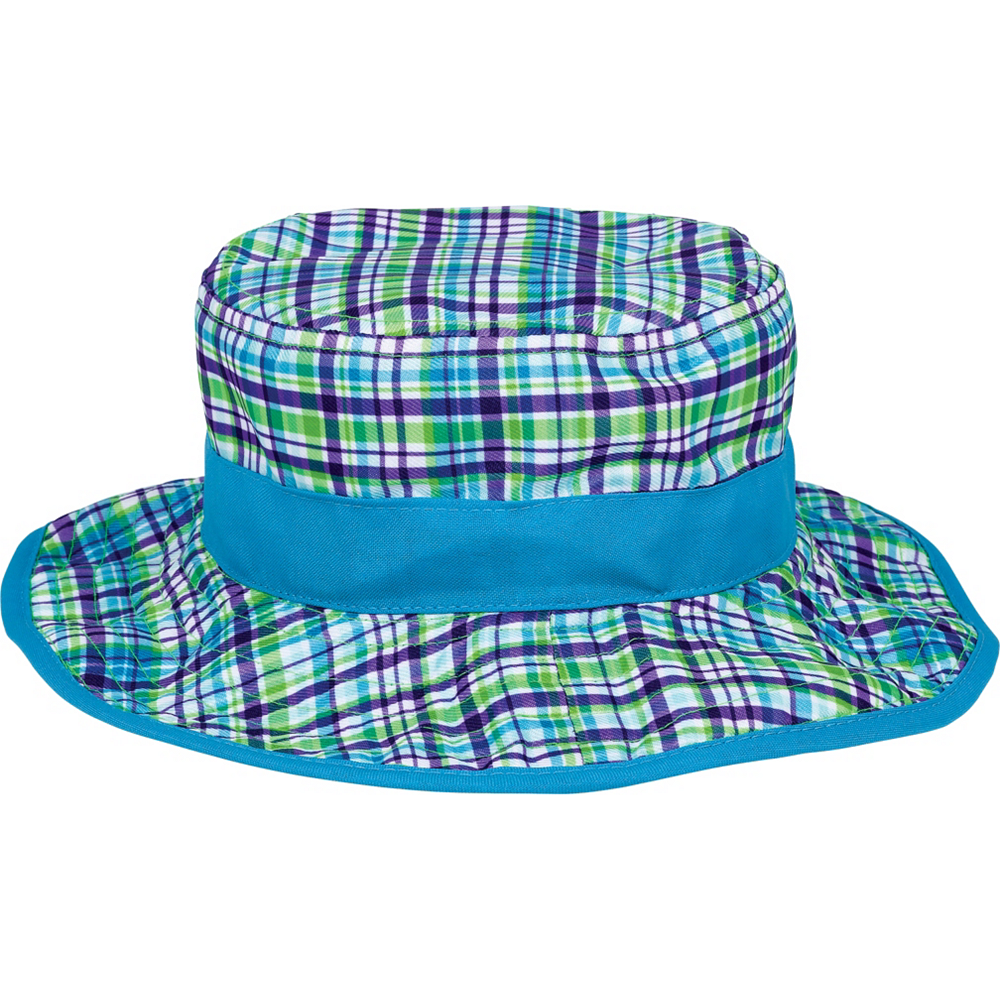 Child Blue Plaid Bucket Hat Image #2