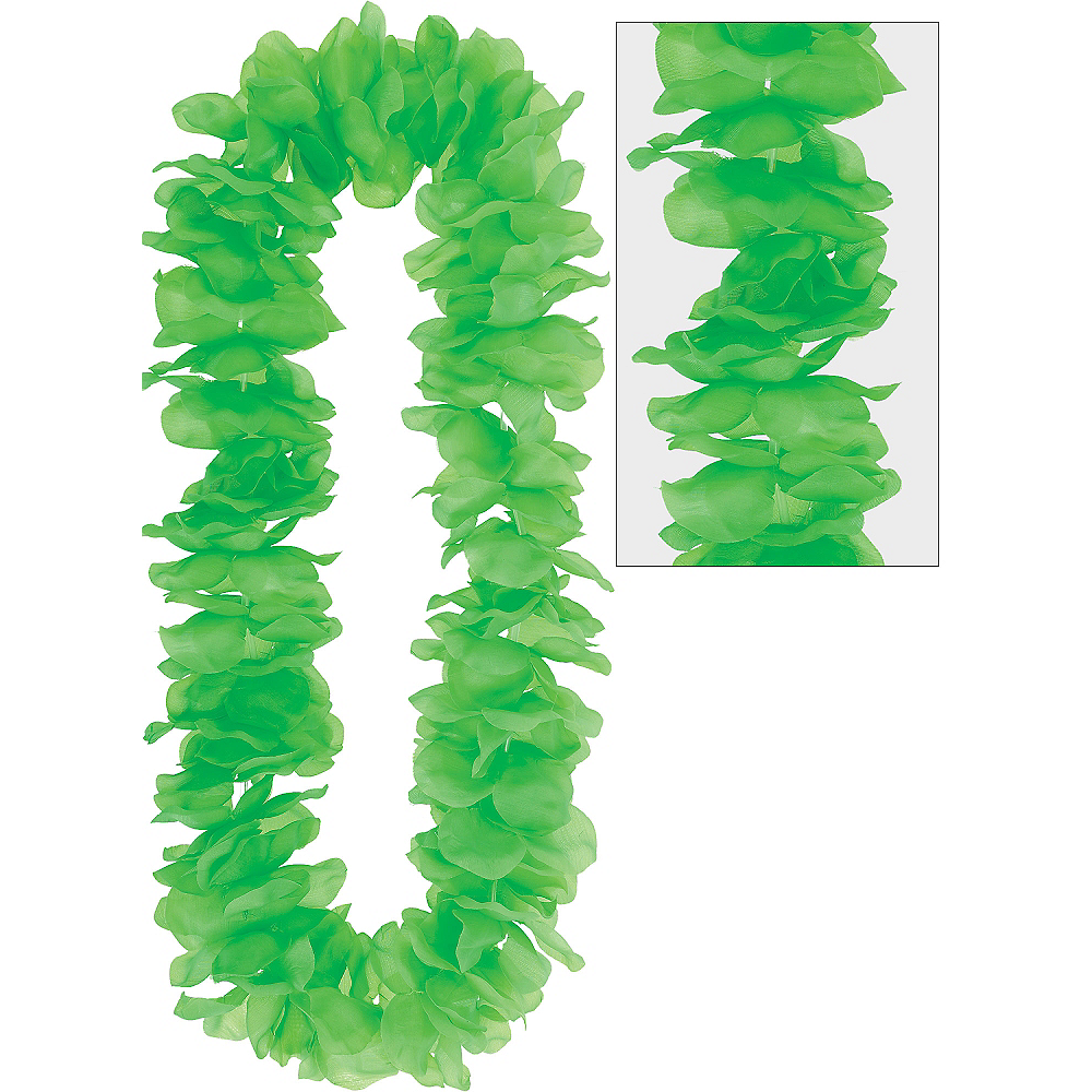 Nav Item for Neon Green Paradise Flower Lei Image #1