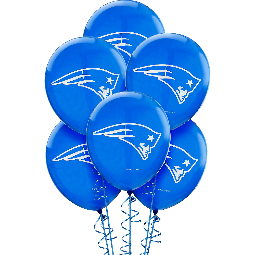 New England Patriots Balloons 6ct Image #1