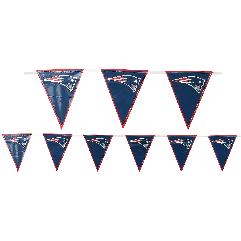 Nav Item for New England Patriots Pennant Banner Image #1