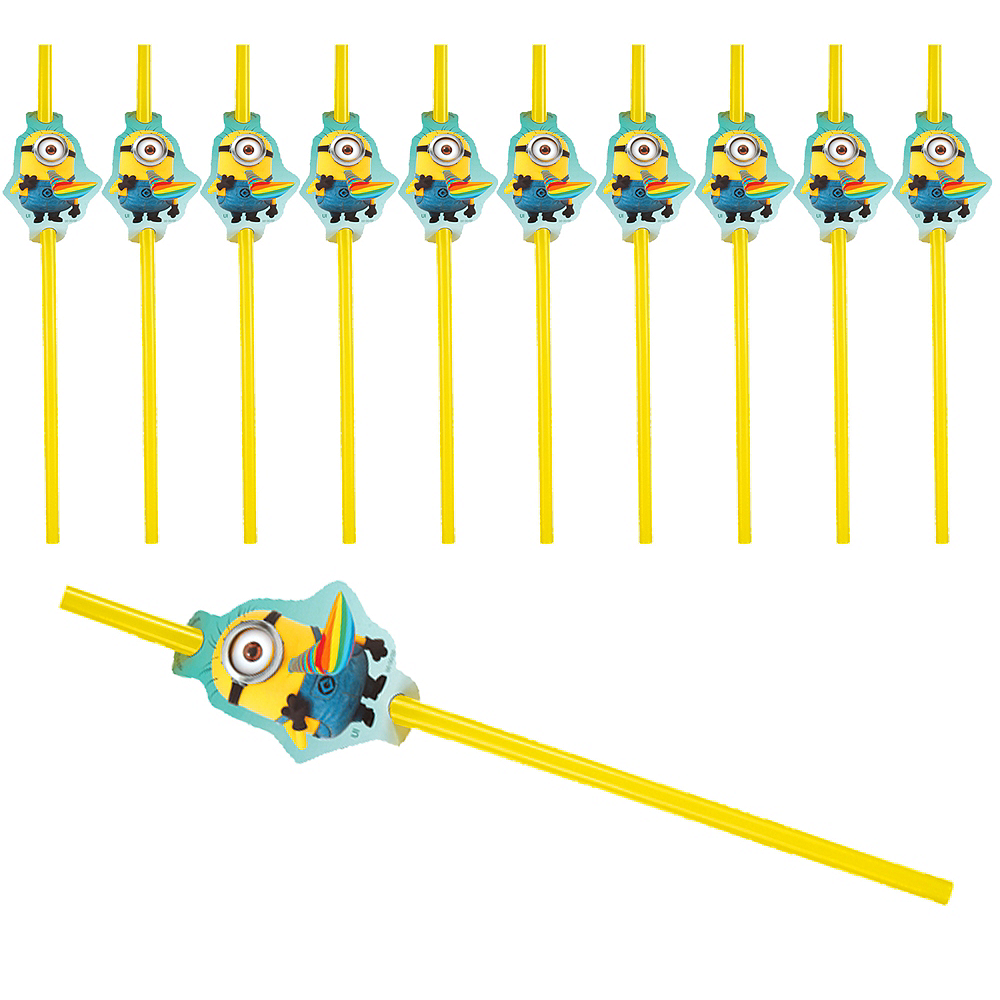 Despicable Me Flexible Straws 24ct Image #1