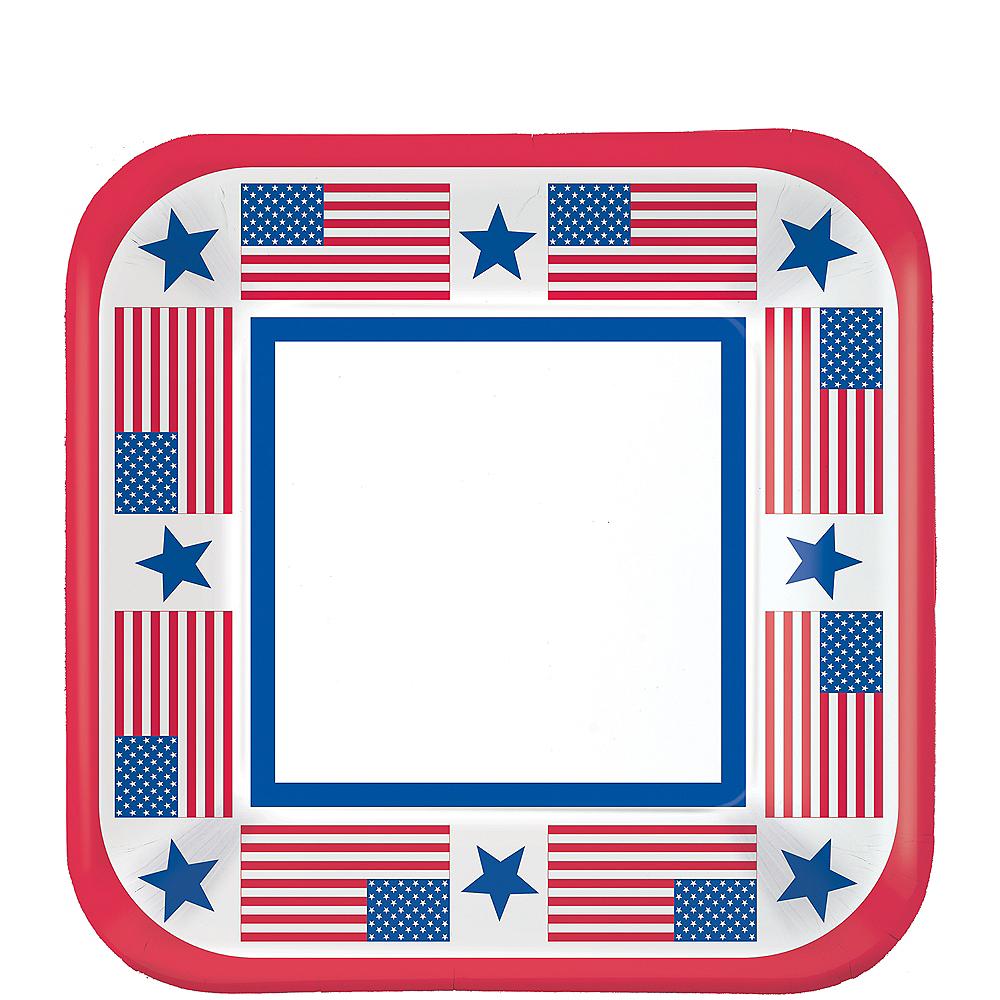 Stars & Stripes Patriotic Dessert Plates 40ct Image #1