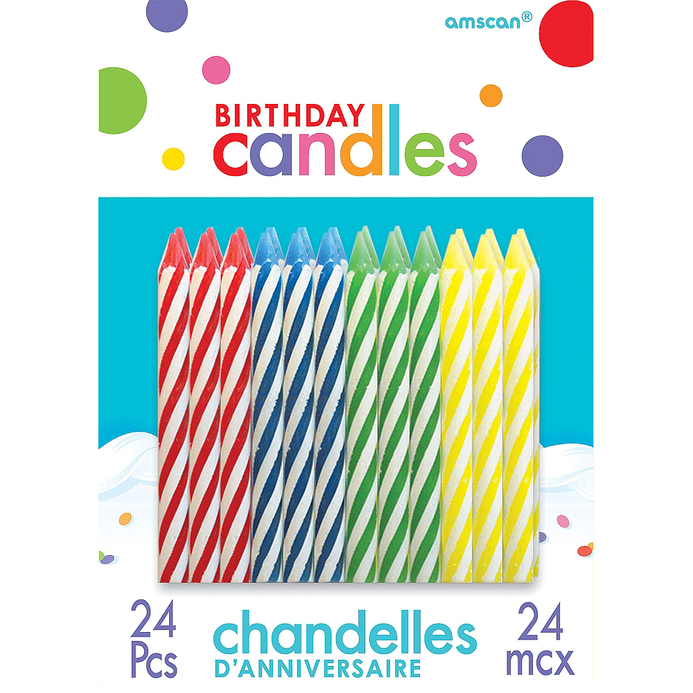 Multicolor Spiral Birthday Candles 24ct Image #1