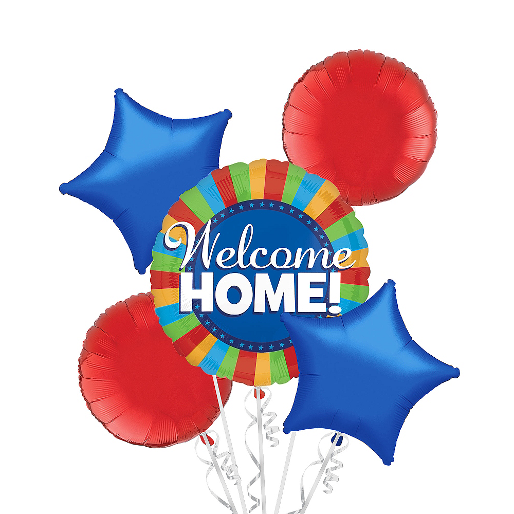 Welcome Home Balloon Bouquet 5pc Image #1