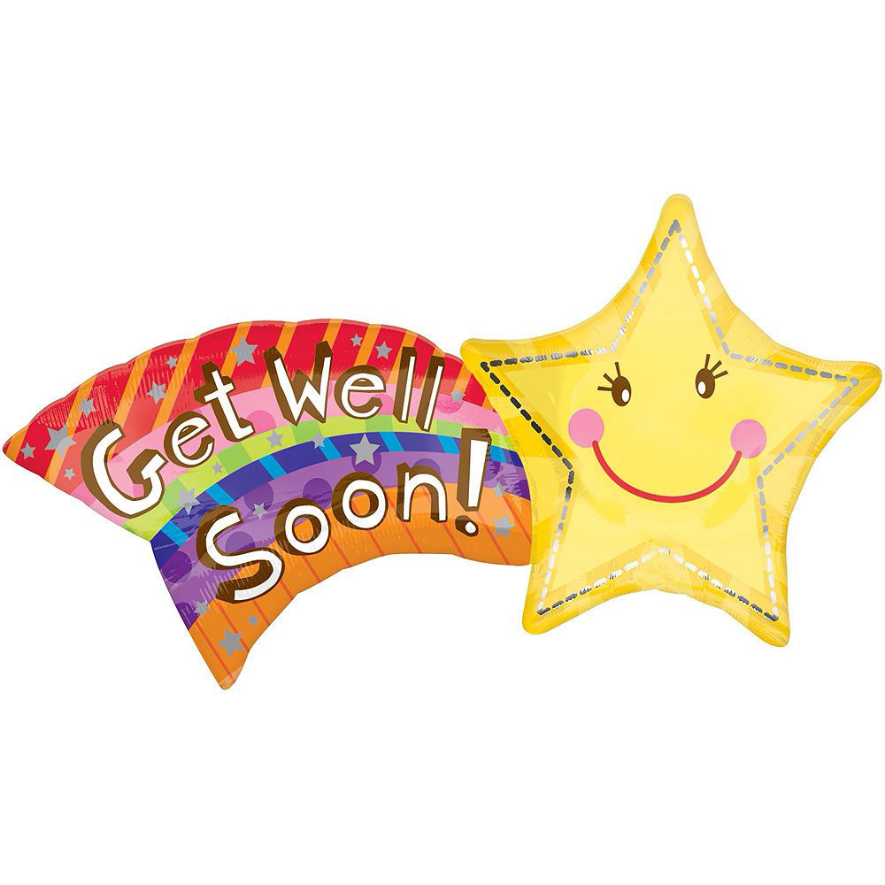 Get Well Soon Balloon Bouquet 5pc Image #3