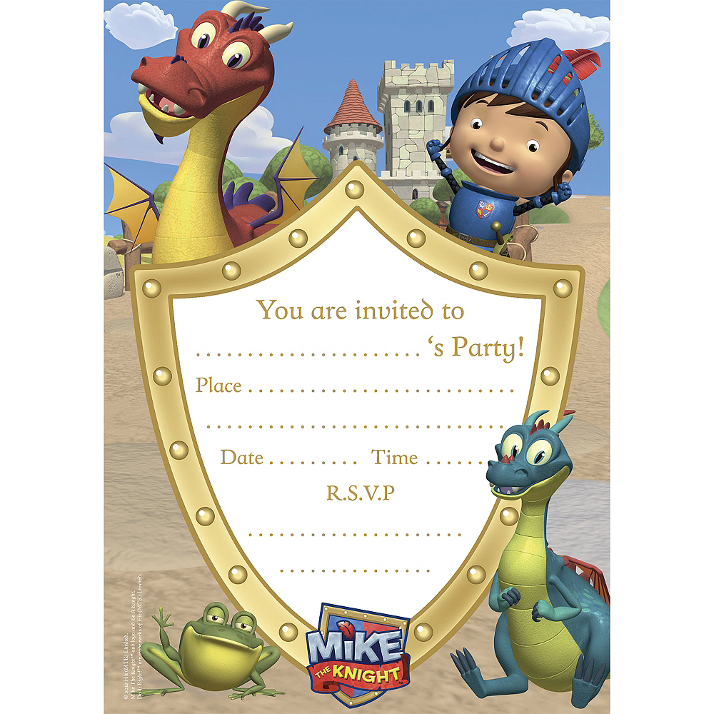 Mike the Knight Invitations 20ct Image #1