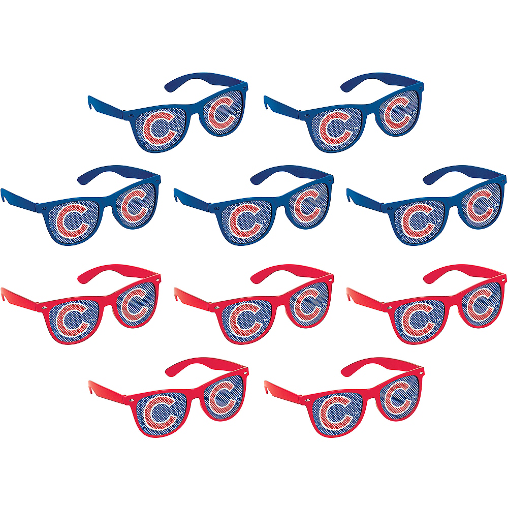 Chicago Cubs Printed Glasses 10ct Image #1