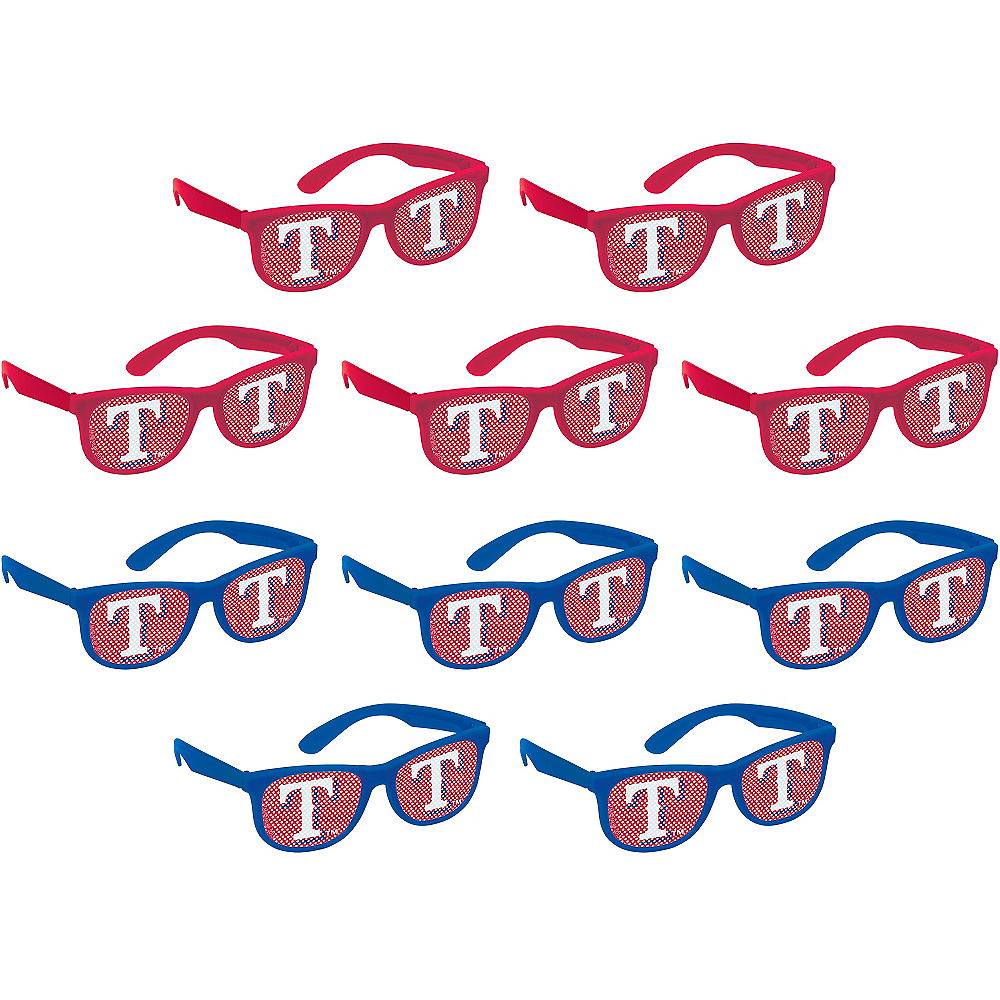 Texas Rangers Printed Glasses 10ct Image #1