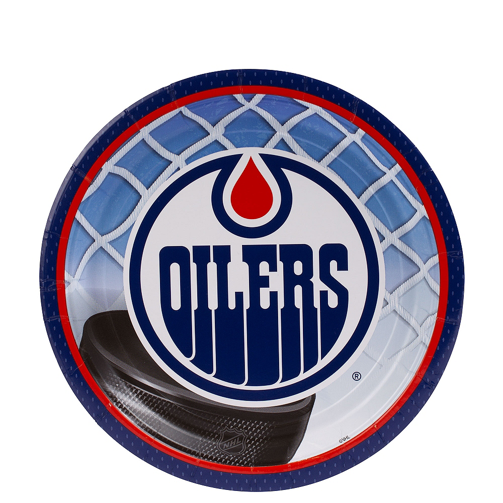 Edmonton Oilers Dessert Plates 8ct Image #1