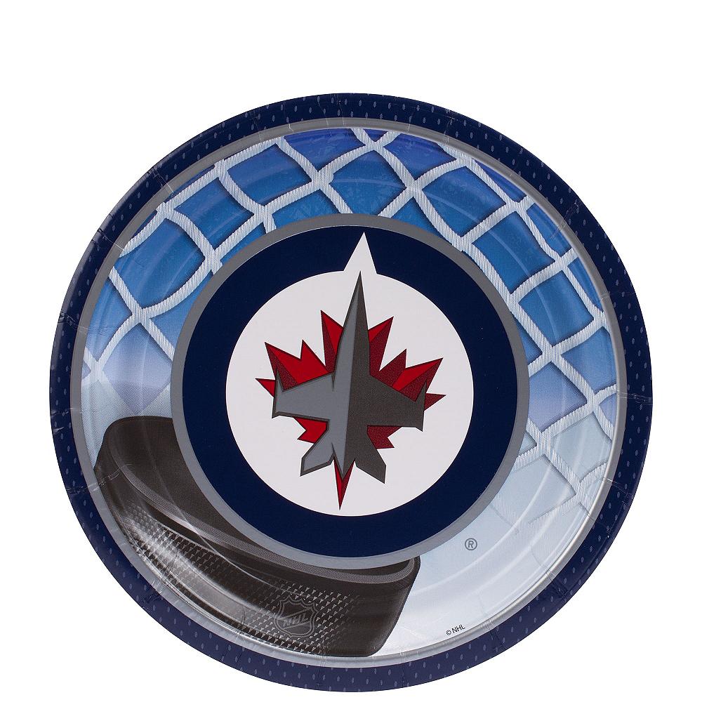 Winnipeg Jets Dessert Plates 8ct Image #1