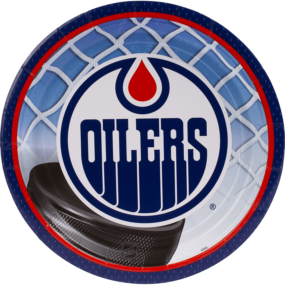 Nav Item for Edmonton Oilers Lunch Plates 8ct Image #1