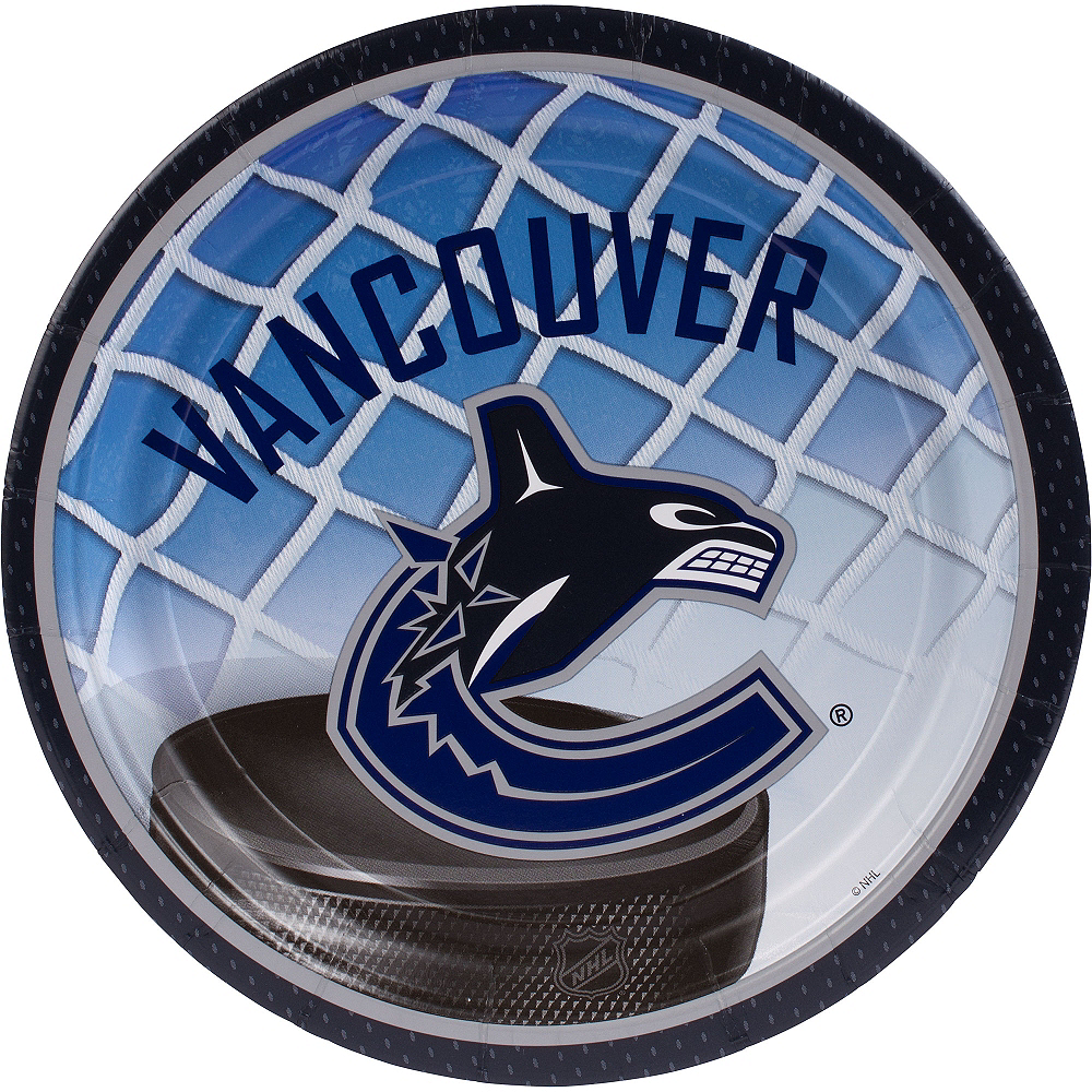 Vancouver Canucks Lunch Plates 8ct Image #1