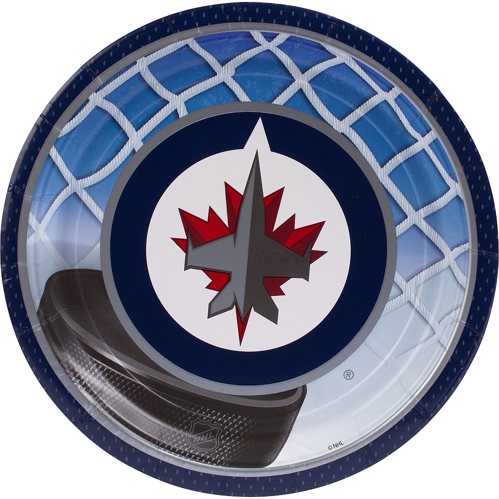 Nav Item for Winnipeg Jets Lunch Plates 8ct Image #1