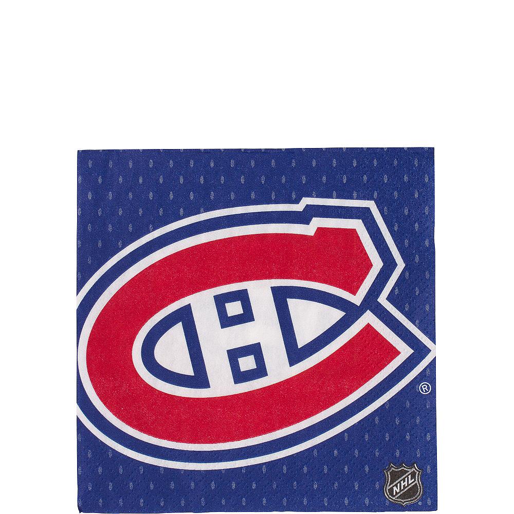 Montreal Canadiens Beverage Napkins 16ct Image #1