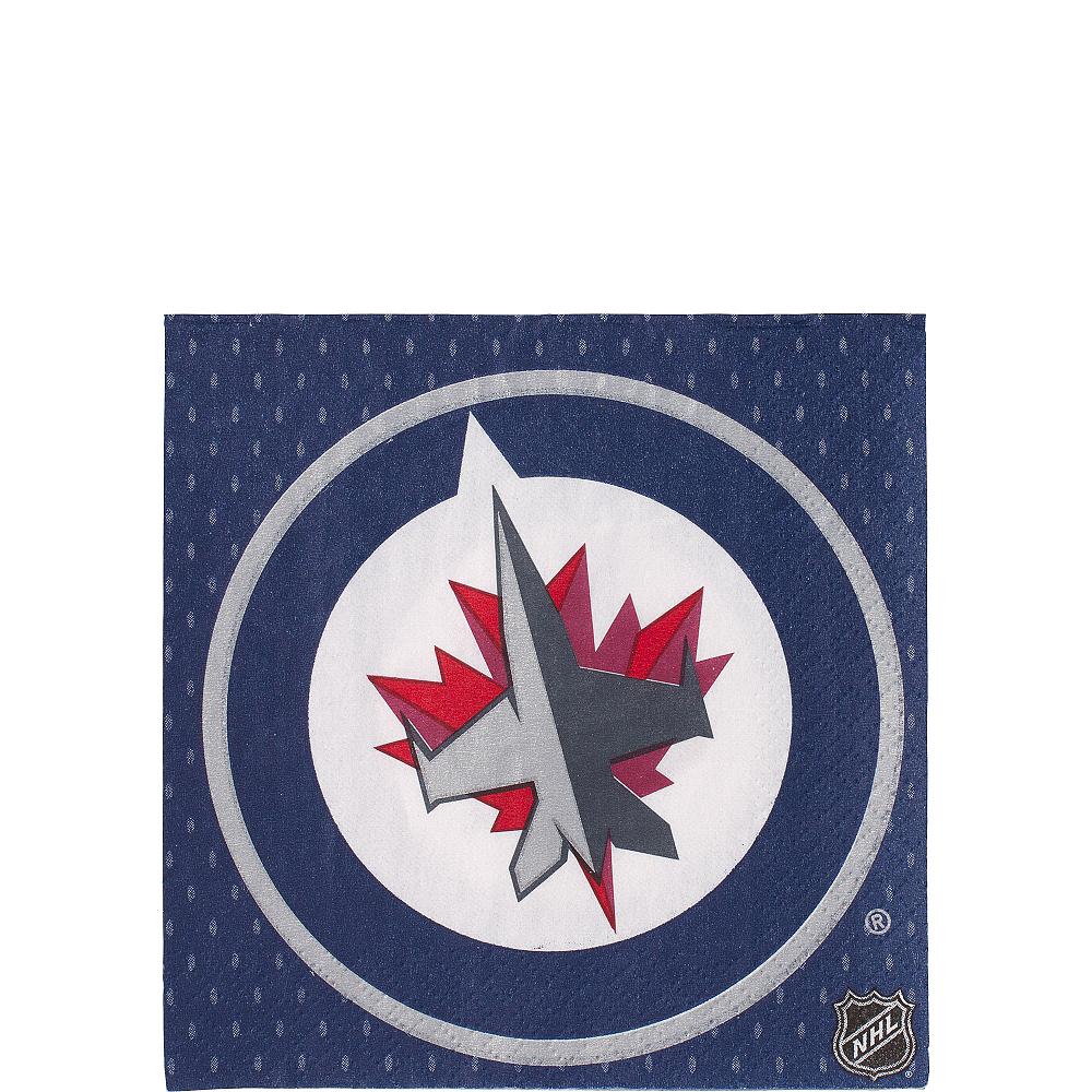 Winnipeg Jets Beverage Napkins 16ct Image #1