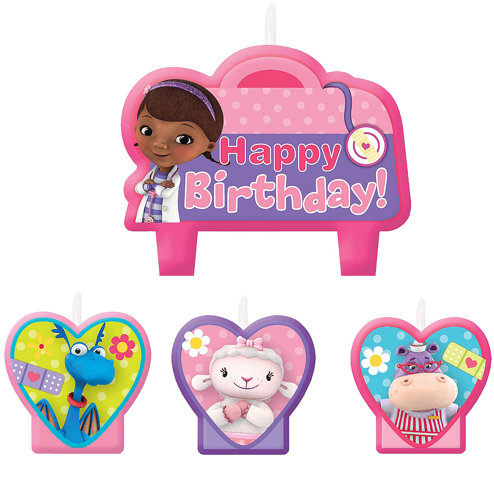 Doc McStuffins Birthday Candles 4ct Image 1