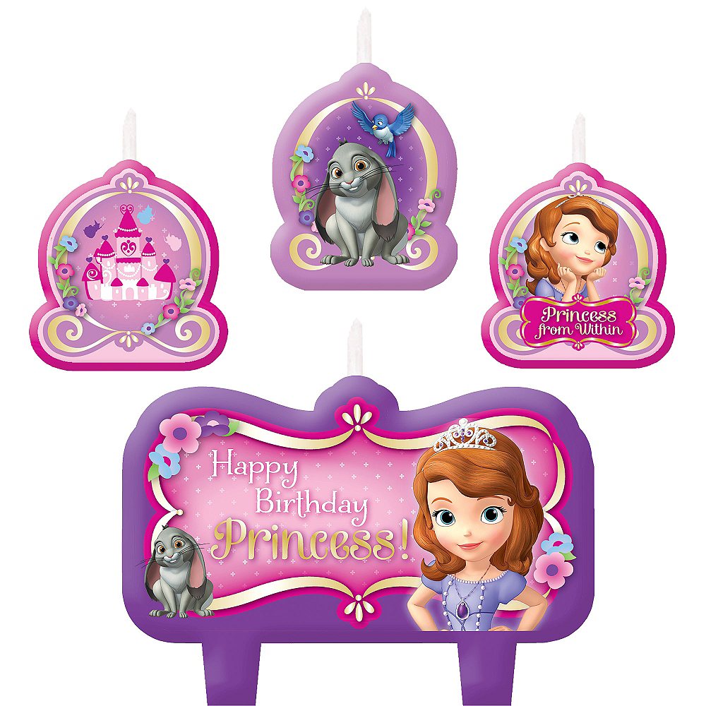 Nav Item for Sofia the First Birthday Candles 4ct Image #1