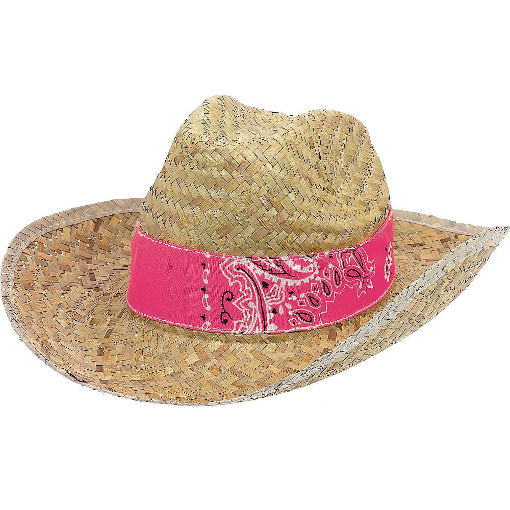 Paisley Straw Cowboy Hat Image #1
